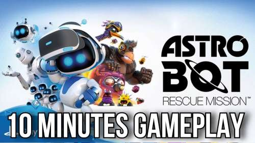 Astro Bot RESCUE MISSION PSVR | 10 MINUTES GAMEPLAY | PlayStation VR