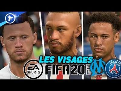 FIFA 20 : les visages et notes des joueurs de l'OM et du PSG