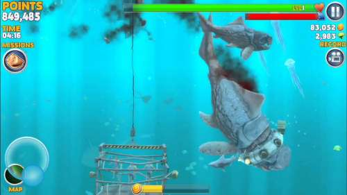 Big Daddy ( Dunkleosteus ) kills MEGALODON - Hungry Shark Evolution - IOS & Android