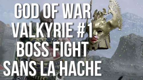 BOSS FIGHT VALKYRIE #1 | SANS LA HACHE | GOD OF WAR PS5