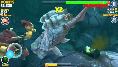 Big Daddy ( Dunkleosteus ) - Hungry Shark Evolution - Gameplay - IOS & Android & Windows Phone