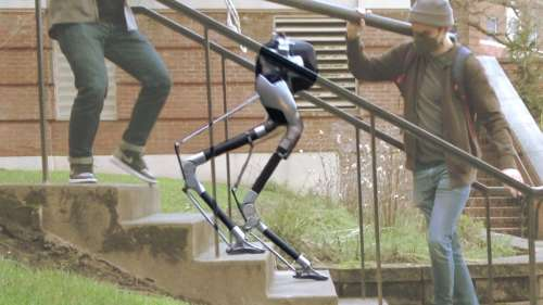 This 'Blind' Robot Can Walk Up A Flight Of Stairs By Itself