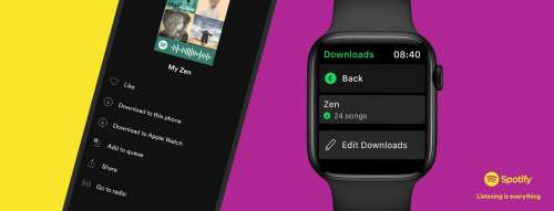 Spotify Starts Rolling Out Offline Playback For Apple Watch
