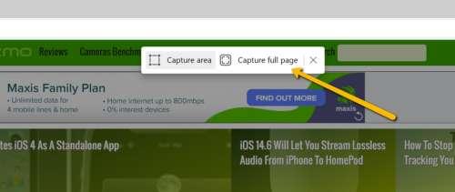 How To Take Full Page Screenshots In Microsoft Edge