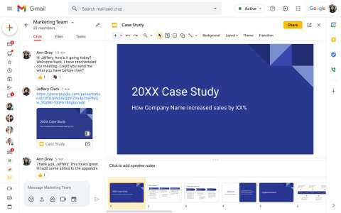 You Can Now Edit Slide Presentations In Google Chat