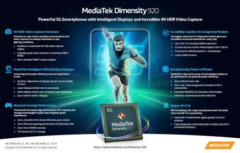 MediaTek Dimensity 920 and 810 Processors For Upcoming 5G Phones