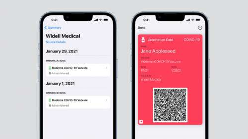 iOS 15.1 Will Let Users Add COVID-19 Vaccination Cards To Wallet App