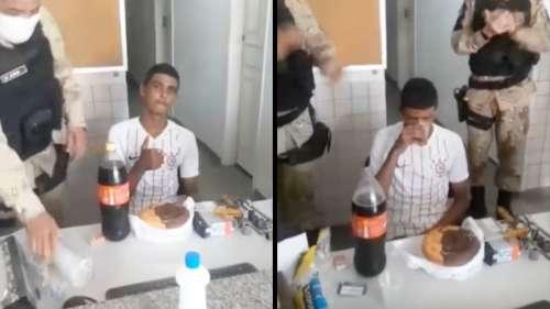 Des policiers organisent un goûter d'anniversaire à un délinquant arrêté le jour de ses 18 ans