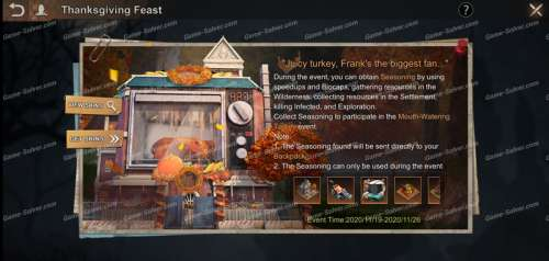 State of Survival: Thanksgiving Feast Event