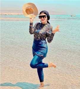 Egyptian girls are rocking the burkini swimming suits
