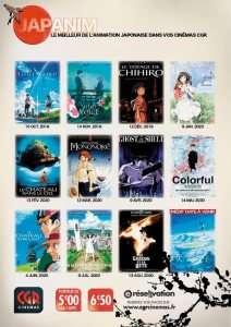Les Ciné CGR programment 12 films d'animation japonais d'octobre à septembre 2020