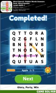 Word Search: Hidden Words Answers