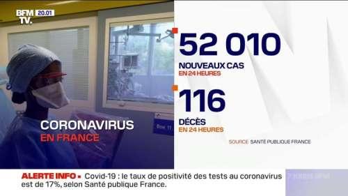 Coronavirus: 52.010 nouveaux cas rapportés positifs en 24h, un nouveau record