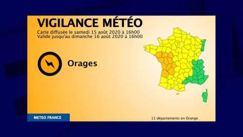 11 départements placés en vigilance orange pour orages