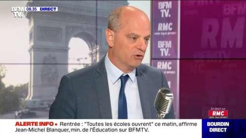 Jean-Michel Blanquer face à Jean-Jacques Bourdin en direct - 01/09