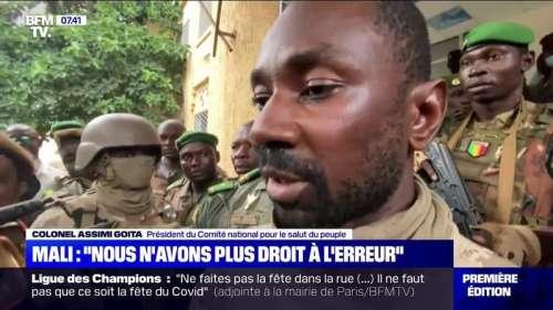Le colonel Assimi Goita, nouvel homme fort du Mali après le coup d'État, a pris la parole pour la première fois