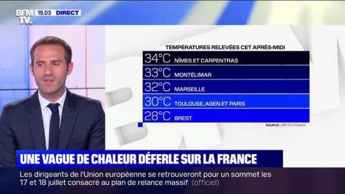 Une vague de chaleur déferle sur la France  - 23/06