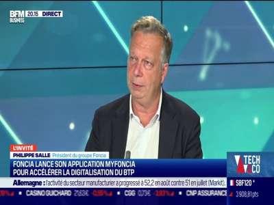 Philippe Salle (Foncia) : Foncia lance son application MyFoncia pour accélérer la digitalisation du BTP - 01/09