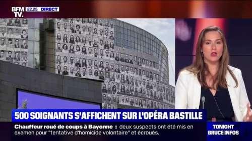 500 portraits de soignants affichés sur l'opéra Bastille, souvent travailleurs de l'ombre, les voici en pleine lumière - @jeanne_daudet