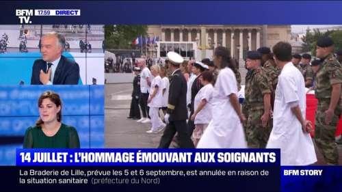 Story 6 : L'hommage émouvant aux soignants - 14/07