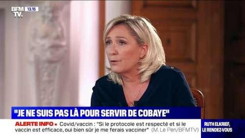 Coronavirus: Marine Le Pen se fera vacciner