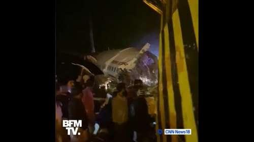 Accident d'avion en Inde: au moins 14 morts et 15 blessés graves, selon un premier bilan