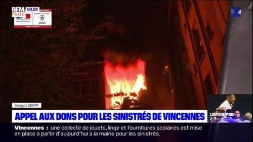 Vincennes: un appel aux dons lancé pour aider les sinistrés de l'incendie qui a fait deux morts