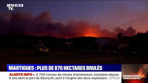 Plus de 870 hectares ravagés par un incendie à Martigues