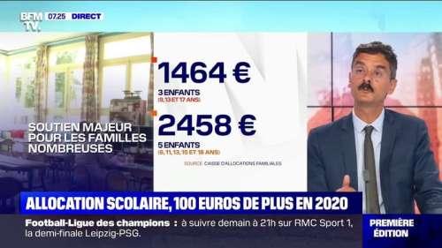Le gouvernement versera 100 euros de plus par enfant pour l'allocation de rentrée scolaire