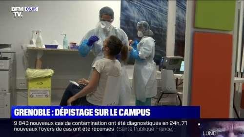 À Grenoble, un nouveau centre de dépistage Covid-19 s'est installé sur le campus universitaire