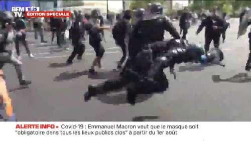 Un gendarme a été pris à partie, en marge de la manifestations des soignants à Paris
