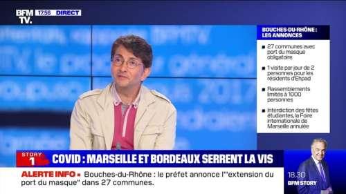 Story 1 : Marseille et Bordeaux serrent la vis face au regain de l'épidémie de coronavirus - 14/09