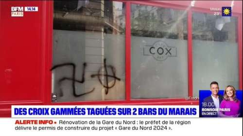 Des croix gammées taguées sur deux bars du Marais,