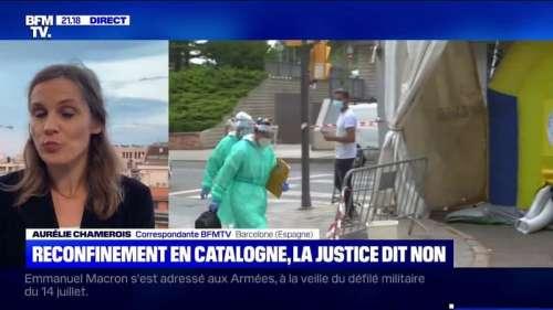 La justice espagnole refuse le reconfinement de 200.000 personnes en Catalogne