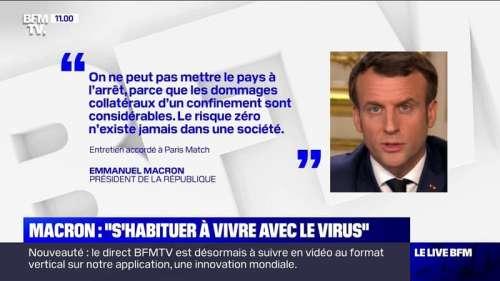 Coronavirus: Emmanuel Macron exclut tout reconfinement général