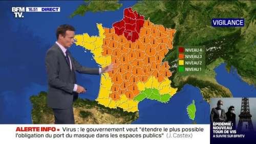 Canicule: 15 départements restent en vigilance rouge, 51 départements en vigilance orange