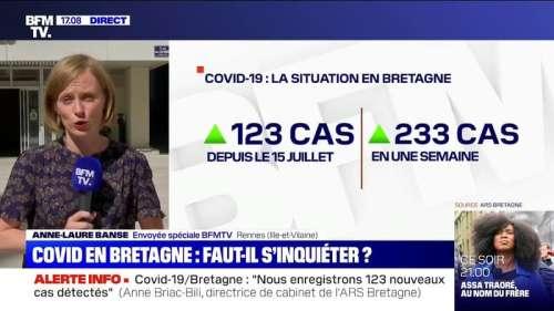 Covid-19: 123 nouveaux cas enregistrés en Bretagne depuis le 15 juillet