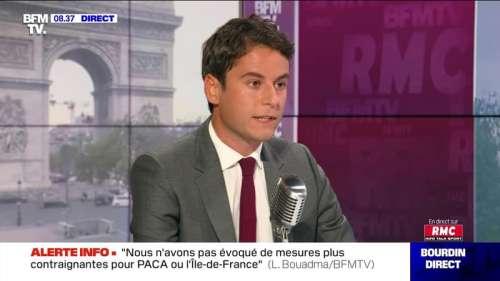 Gabriel Attal face à Jean-Jacques Bourdin en direct - 10/09