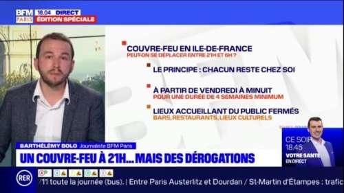 Comment va fonctionner le couvre-feu mis en place dès ce week-end en Île-de-France