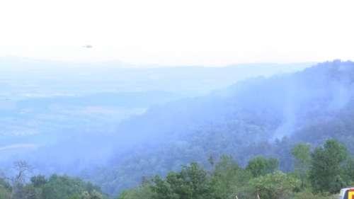 Incendie en Ardèche: le feu de forêt est fixé