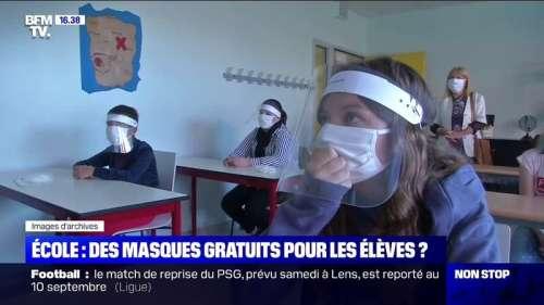 Rentrée des classes: des communes et des régions prennent les devants pour fournir des masques aux élèves