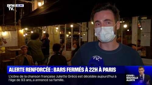 Bars fermés à 22h à Paris: ce commerçant assure qu'il va perdre 50% de son chiffre d'affaires