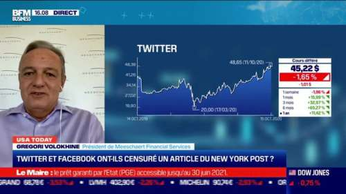 USA Today : Twitter et Facebook ont-ils censuré un article du New York Post ? Par Gregori Volokhine - 15/10