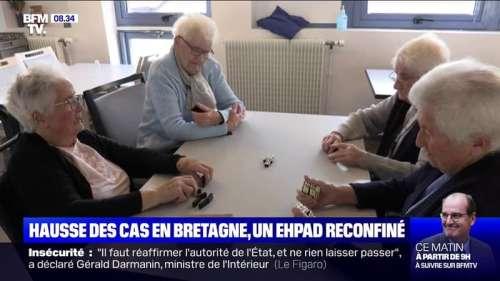 Covid-19: un Ehpad reconfiné en Bretagne avec la hausse du nombre de cas dans la région