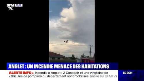 Incendie à Anglet: deux Canadair et une vingtaine de véhicules de pompiers du département sont mobilisés