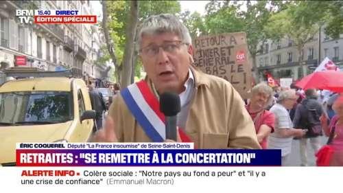 Macron sur la réforme des retraites: pour Coquerel,