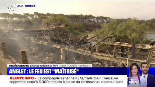 L'incendie à Anglet a atteint le parc écologique d'Izadia dans la forêt de Chiberta