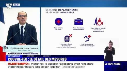 Couvre-feu: le gouvernement présente le détail des mesures
