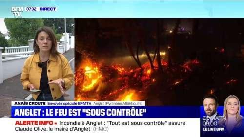 Incendie à Anglet: le feu est sous contrôle mais 65 hectares sont toujours menacés