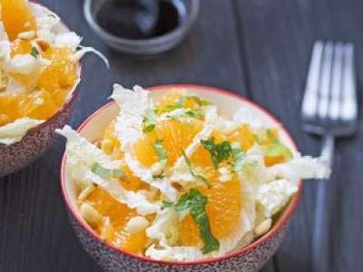 Recette : Salade de clémentines et chou chinois au gingembre